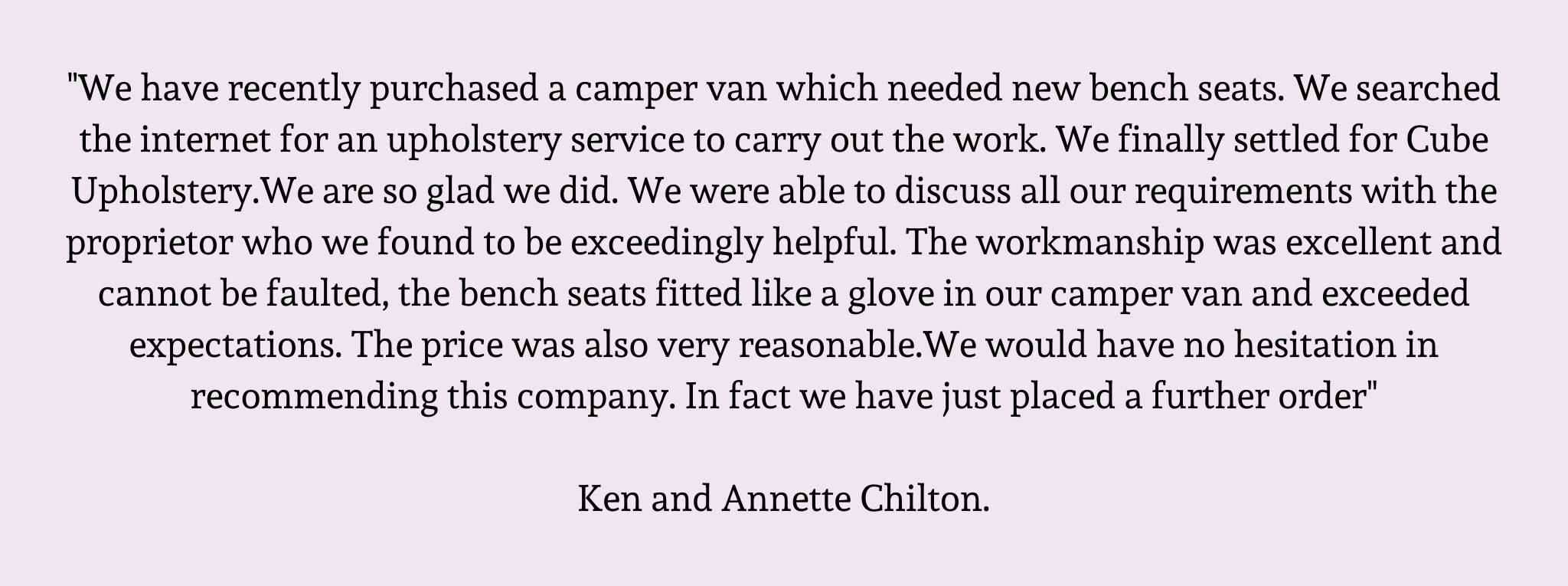 campervan upholstery HAPPY CAMPERS praise 7