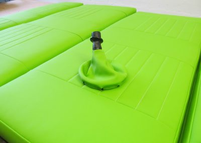 rock and roll bed and gaiter, bright green vinyl camper gallery CAMPER GALLERY rock and roll bed and gaiter bright green vinyl 400x284