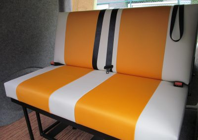camper gallery CAMPER GALLERY rock and roll bed orange and cream vinyl 400x284